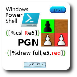 PGN parser of colored squares and arrows